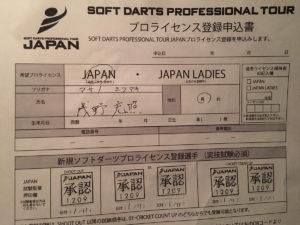 ダーツプロテスト(JAPAN)の試験概要